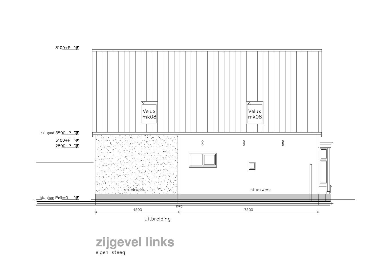 Uitbreiding woonhuis heiloo van wilsem cabri architectuur en management bna - Uitbreiding hoogte ...